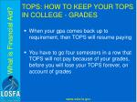 tops how to keep your tops in college grades4