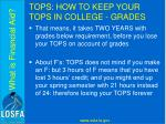 tops how to keep your tops in college grades5