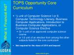 tops opportunity core curriculum8