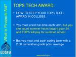 tops tech award