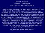 david a anderson president lima region the state bank and trust company