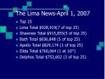 the lima news april 1 2007