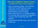 alternate eligibility requirements qualified non high school graduates1