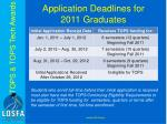 application deadlines for 2011 graduates4