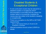 disabled students exceptional children
