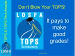 don t blow your tops