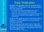 early graduation