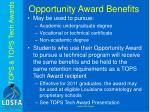 opportunity award benefits1