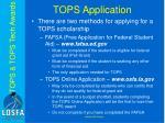 tops application