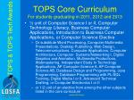 tops core curriculum for students graduating in 2011 2012 and 20137