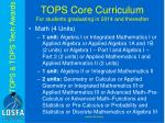 tops core curriculum for students graduating in 2014 and thereafter1