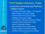 tops eligible institutions public2
