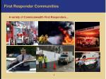 first responder communities