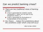 can we predict banking crises