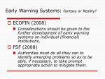 early warning systems fantasy or reality