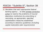 fdicia subtitle d section 38