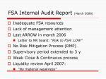 fsa internal audit report march 2008