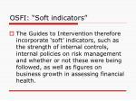 osfi soft indicators