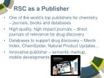 rsc as a publisher