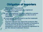 obligation of importers