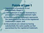 points of law 1