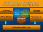 1 broad definition of inclusive innovation creation absorption relevant for the poor