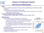 analysis of the metroplex capacity data sources methodology