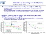 stimulation of demand by low cost carriers i e low fare airlines