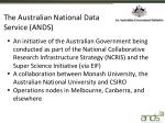 the australian national data service ands