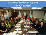 statewide system of support self assessment