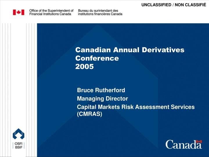 canadian annual derivatives conference 2005 n.