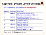 appendix system level functions
