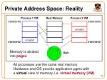 private address space reality