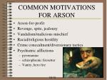 common motivations for arson