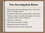 fire investigation basics