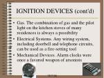 ignition devices cont d