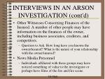 interviews in an arson investigation cont d2