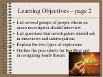 learning objectives page 2