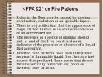 nfpa 921 on fire patterns
