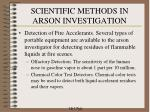 scientific methods in arson investigation