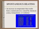 spontaneous heating