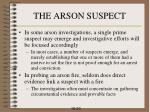 the arson suspect