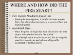 where and how did the fire start