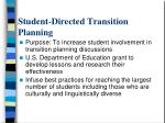 student directed transition planning