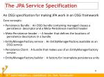 the jpa service specification
