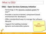 what is osgi