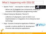 what s happening with osgi ee