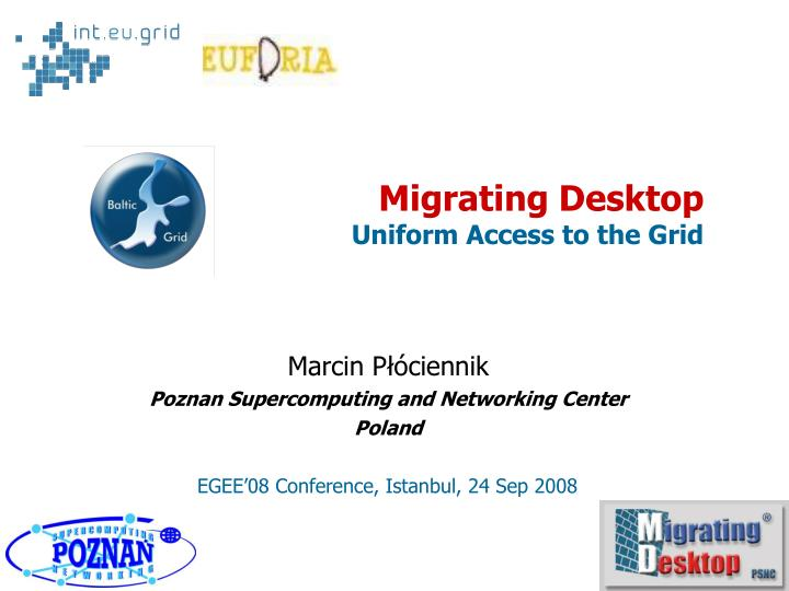 marcin p ciennik poznan supercomputing and networking center poland n.