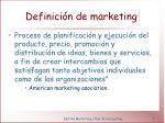 definici n de marketing