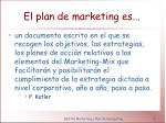 el plan de marketing es